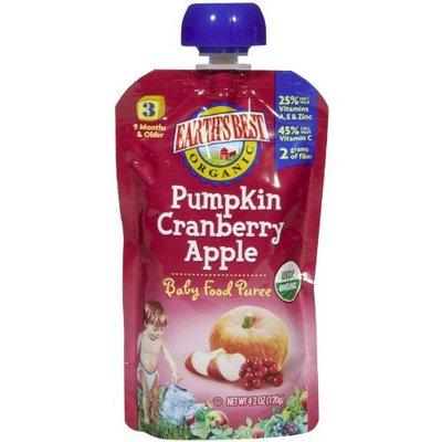 Earth's Best 3rd Foods Purees - Pumpkin Cranberry Apple - 4.2 oz - 6 pk