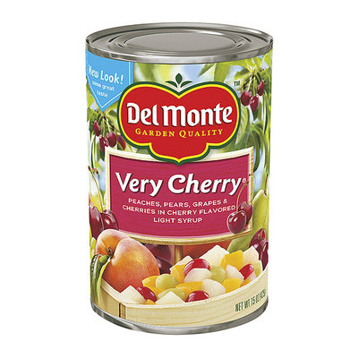 Del Monte® In A Natural Cherry Flavored Light Syrup Very Cherry Mixed Fruit