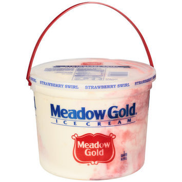 Meadow Gold Strawberry Swirl Ice Cream, 5 qt
