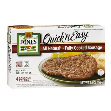 Jones Dairy Farm Quick 'n Easy All Natural Fully Cooked Sausage Patties - 4 CT