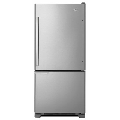 Amana 30 in. W 18.5 cu. ft. Bottom Freezer Refrigerator in Monochromatic Stainless Steel ABB1921BRM