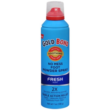 Gold Bond No Mess Foot Powder Spray Fresh Scent