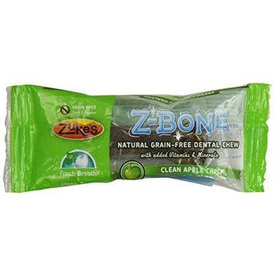 Zuke's Z-Bones Edible Grain-Free Dental Chews, Clean Apple Crisp, Mini 0.45-Ounce, Individually Wrapped Bone