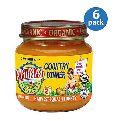 Earth's Best Organic Baby Food - Harvest Squash Turkey Country Dinner