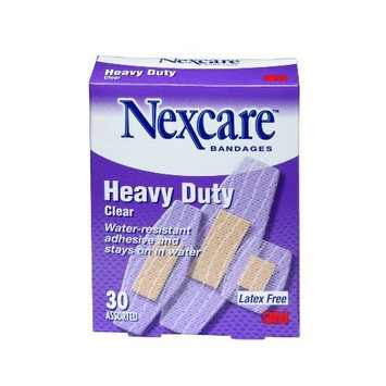 Nexcare Heavy Duty Clear Bandage, Assorted, 30 ct Packages (Pack of 4)