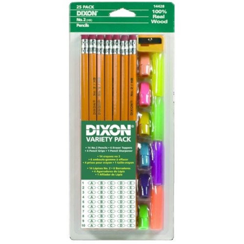 Dixon Ticonderoga Company Dixon Ticonderoga 14428 Dixon Economy Writing Pencil Variety Pack Yellow