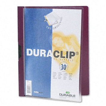 Durable DBL220331 DuraClip Report Cover, 30 Sheet Capacity, Letter, Maroon