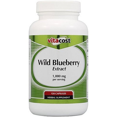 Vitacost Brand Vitacost Wild Blueberry Extract -- 1,000 mg per serving - 120 Capsules