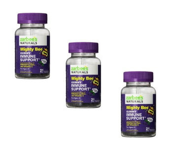 Titannj Zarbee's Mighty Bee Gummy Immunity Plus Vitamins, 21 Count 3 Pack (3pcs Set)