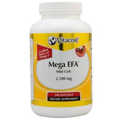 Vitacost Brand Vitacost Mega EFA Mini Gel Omega-3 EPA & DHA Fish Oil -- 2100 mg - 240 Softgels