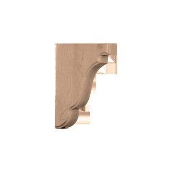 Ekena Millwork 1.75-in x 7.5-in Walnut Bedford Wood Corbel