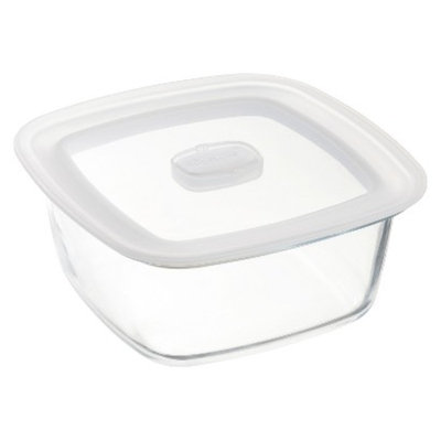 Bormioli Rocco Frigoverre Microwave 47 oz. Square Glass Food Storage