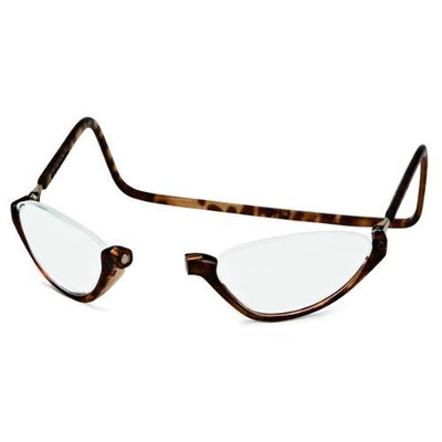 CliC Sonoma Adjustable Front Magnetic Connect Reading Glasses; Tortoise