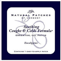 Naturopatch Of Vermont Eucalyptus All Natural Relief From Coughs & Colds Aromatherapy Body Patches Single Sachet (Pack of 6)
