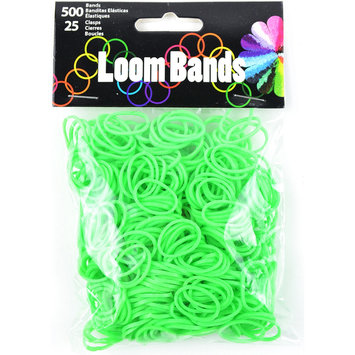 Midwest Design Imports Midwest Design LB506-50622 Loom Bands Value Pack 525-Pkg-Glow In The Dark Green