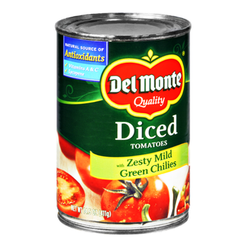 Del Monte Quality Zesty Mild Green Chilies Diced Tomatoes