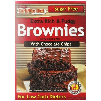 Doctor's Diet Doctor's CarbRite Diet - Chocolate Chip Brownie Mix, 11.5 oz