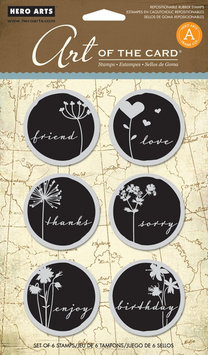 Hero Arts Rubber Stamps Hero Arts Cling Stamps, Untitled Word Shadow