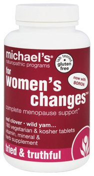 Michaels Naturopathic Programs Michael's Naturopathic Programs - For Women's Changes Complete Menopause Support - 180 Vegetarian Tablets