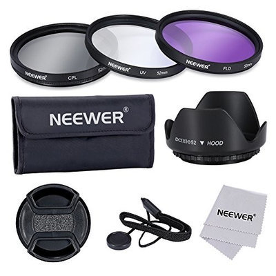 NEEWER 52mm UV+CPL+FLD Filter Kit Set for CANON EOS Rebel