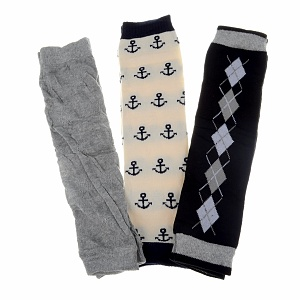 Crummy Bunny Mason's Preppy Knit Baby Leg Warmers Set of 3
