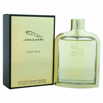 Jaguar Classic Gold Eau de Toilette Spray, 3.4 fl oz