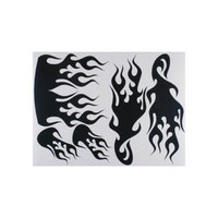 V002C Sticker Sheet Carbon Fiber Flames