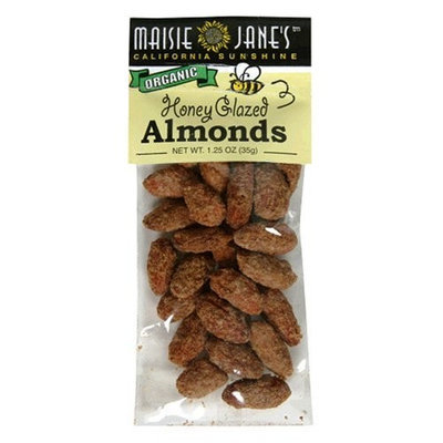Maisie Jane's Organic Honey Glazed Almond Snack Pack, 1.25-Ounce Packages (Pack of 12)