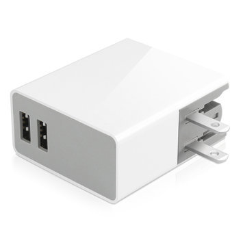 Macally HOME24 24w 2port USB Wall Charger Pwr Charges 2 Ipads/tablets
