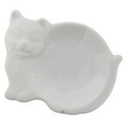 Harold Import Hic 73/29 Tea Bag Caddy, Porcelain, Cat