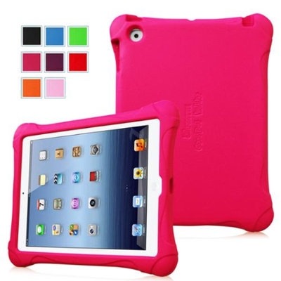 Fintie Kiddie Case - Light Weight Shock Proof Convertible Handle Stand Kids Friendly for iPad 2/3/4, Magenta