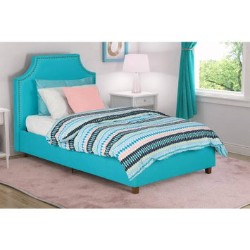 Dorel Home Products DHP Melita Teal Linen Upholstered Twin Bed