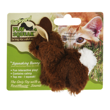 Backyard Play-N-Squeak Squeaking Bunny Catnip Toy