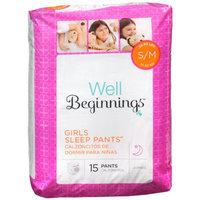 Walgreens Well Beginnings Youth Sleep Pants Girl Small/Medium