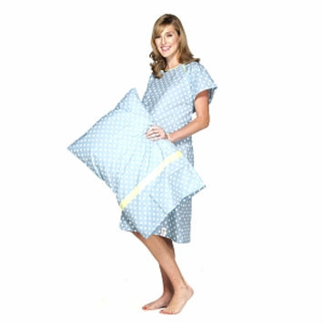 Baby Be Mine Nicole Gownie Hospital Gown with Pillowcase, L/XL, 1 ea