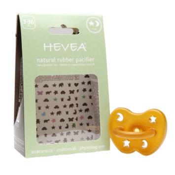 Hevea Natural Rubber Pacifier, 3-36 Months Medium, Star & Moon, 1 ea