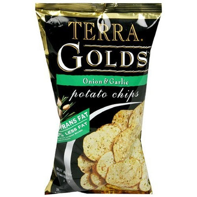 Terra Golds Potato Chips, Onion & Garlic, 5-Ounce Bags (Pack of 12)
