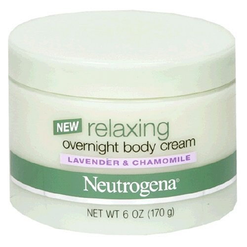 Neutrogena Relaxing Overnight Body Cream, Lavender and Chamomile, 6 Ounce