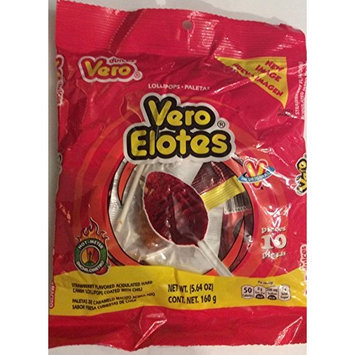Dulcesvero Candy Lollipops Coated with Chili 5.64 Oz (1 Pack)