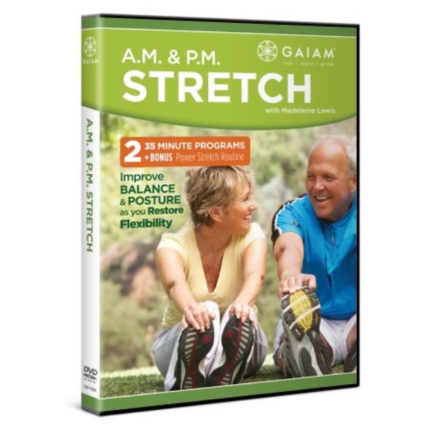 Gaiam A.M. & P.M. Stretch With Madeleine Lewis Dvd, 1 ea