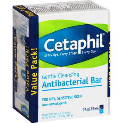 Cetaphil Gentle Cleansing Antibacterial Bar