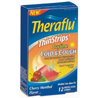 Theraflu Daytime Cold & Cough Thin Strips, 12 medicated strips(Pack of 3)