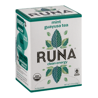 Runa Mint Guayusa Tea Clean Energy - 16 CT