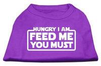 Ahi Hungry I am Screen Print Shirt Purple XS (8)