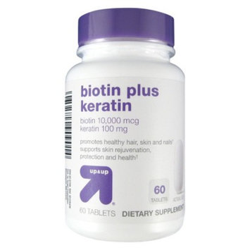 up & up up&up Biotin Plus Keratin - 60 Count