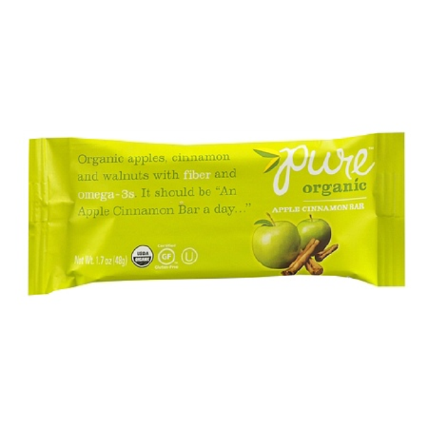 Pure Organic Nutrition Snack Bar Apple Cinnamon