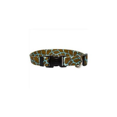Yellow Dog Design GIRT101S Giraffe Teal Standard Collar - Small