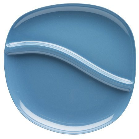 Zak Designs Moso 11-inch Bamboo Divided Dinner Plate - Slate