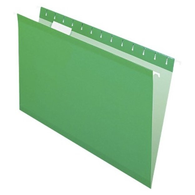 Pendaflex Reinforced Hanging Folders with 1/5 Tab, Legal - Bright