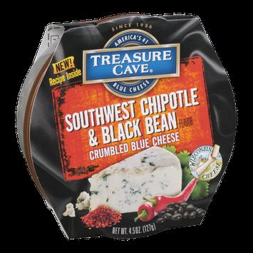 Treasure Cave Crumbled Blue Cheese Southwest Chipotle & Black Bean Flavor